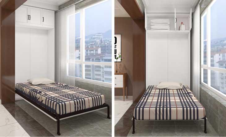 giường gấp dọc có đệm