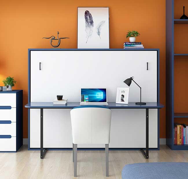 Giường gấp ngang - gấp dọc kết hợp bàn thông minh