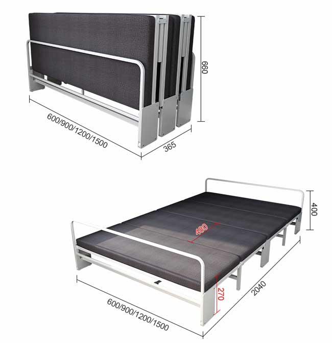 kích thước giường gấp