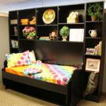 Giường gấp thành bàn làm việc kèm tủ kệ trang trí giá rẻ