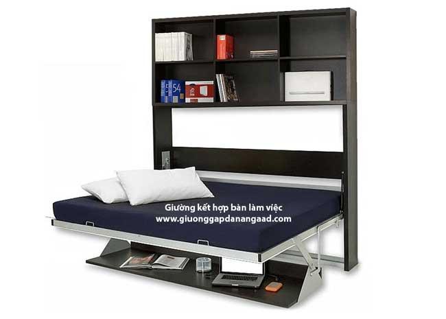 giường gấp kết hợp với bàn làm việc