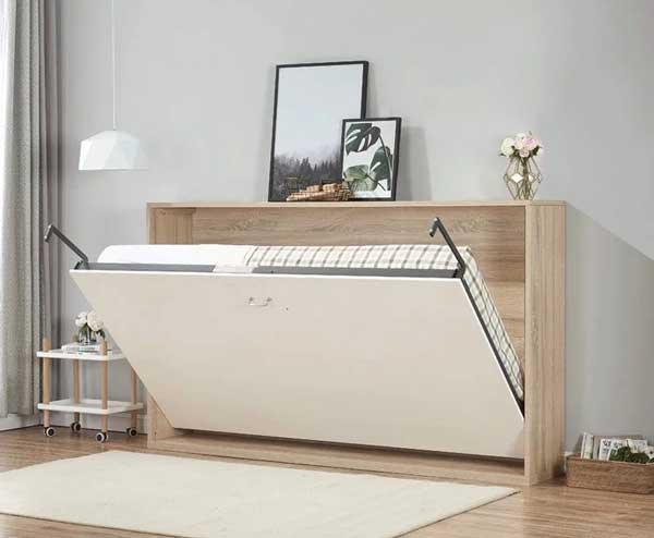 giường gấp phủ veneer