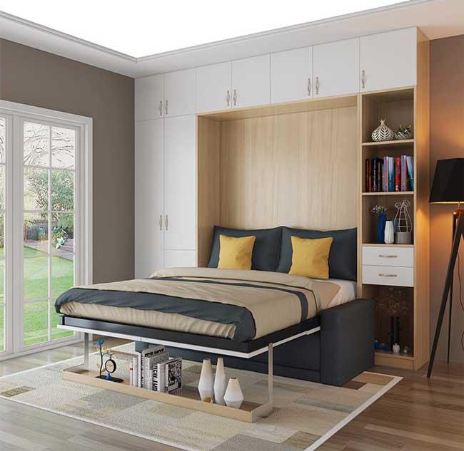 giường gấp dọc tường