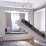 Thiết kế giường gấp 1m2 đa năng cho phòng ngủ nhỏ