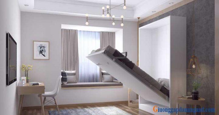 thiết kế giường gấp 120cm đa năng