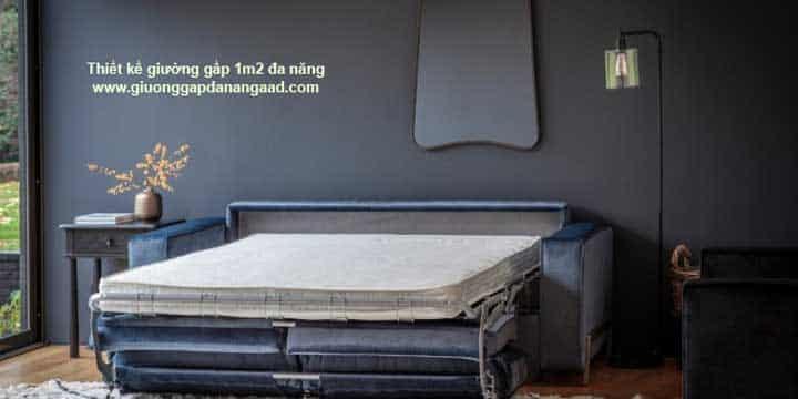 thiết kế giường gấp 1m2 đa năng