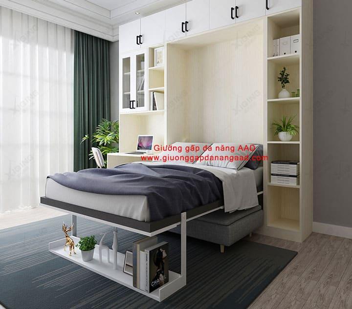 Giường gấp gắn tường tiết kiệm không gian