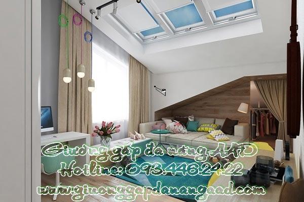 Giường gấp đa năng cho bé đầy màu sắc