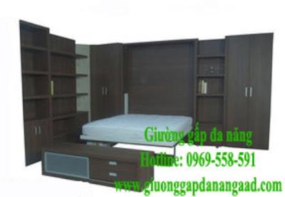 Giường gấp đa năng MDF và melamine