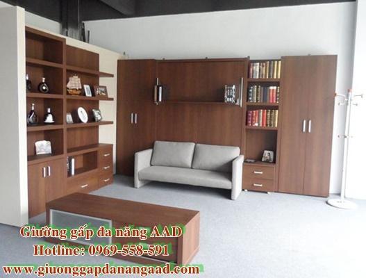 Giường gấp đôi đa năng kết hợp sofa