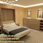 Giường ngủ gấp đa năng gỗ công nghiệp MDF