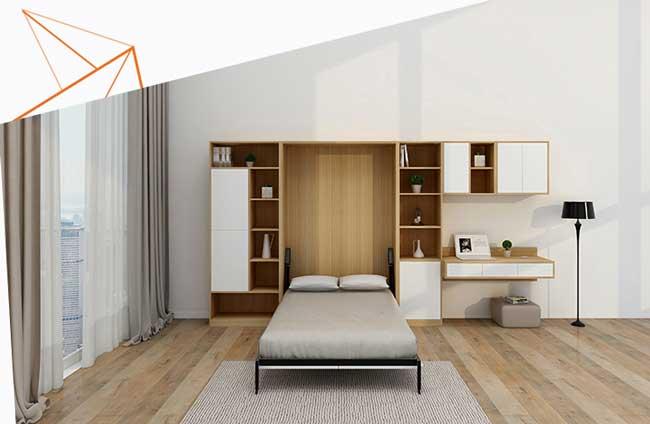 giường gấp đơn dọc âm tường
