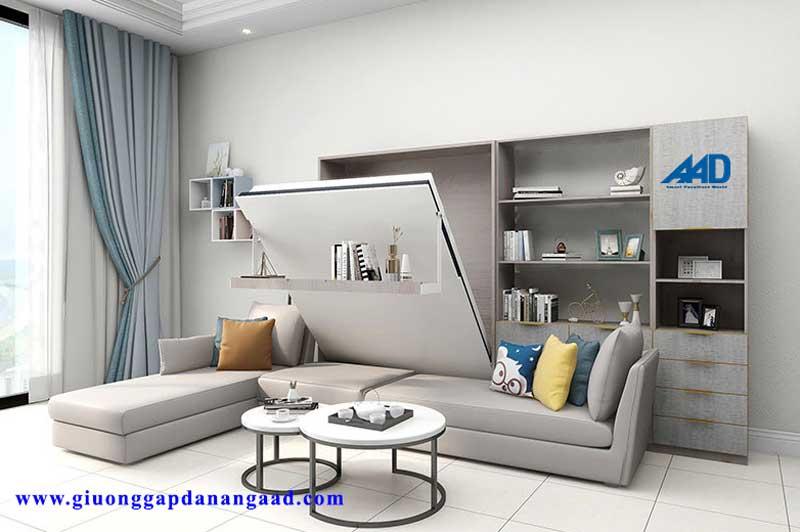 Giường gấp dọc kết hợp ghế sofa 1m5x1m9