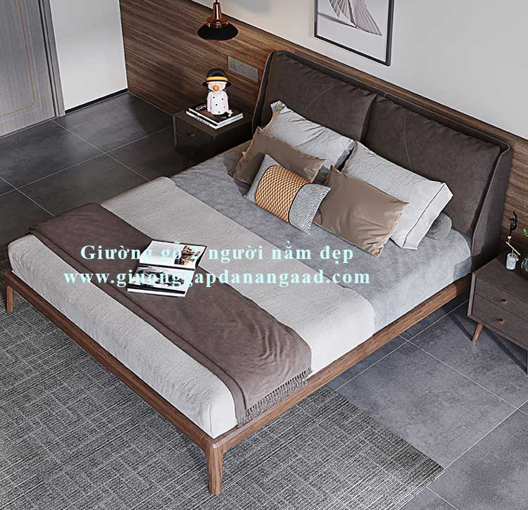 giường gỗ 2 người nằm đẹp