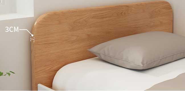 thành giường có độ dày 3cm