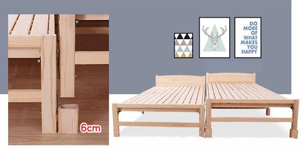 giường gấp điều chỉnh được chiều cao khác nhau
