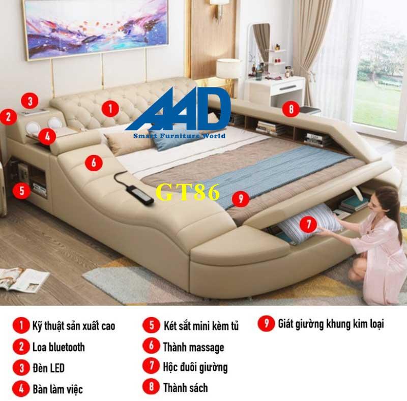 giường ngủ thông minh có ghế massage