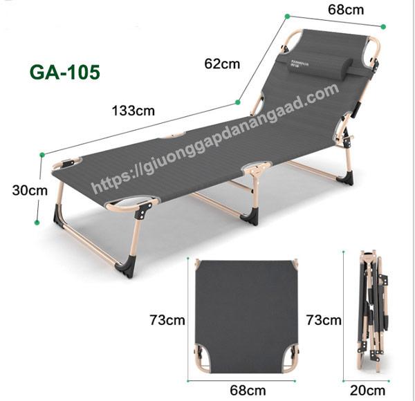 kích thước giường gấp văn phòng GA-105