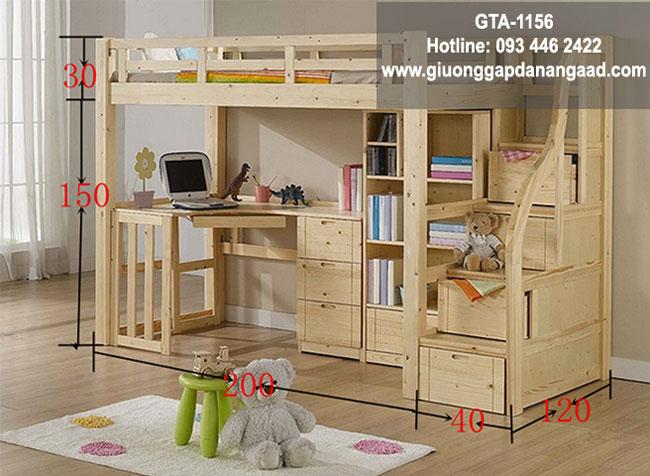 giường tầng kết hợp bàn học dành cho trẻ em