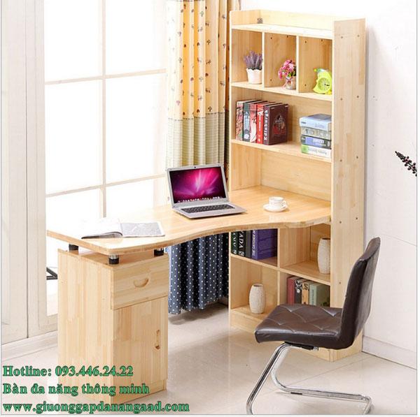 Bàn đa năng kết hợp bàn làm việc và bàn học tủ sách