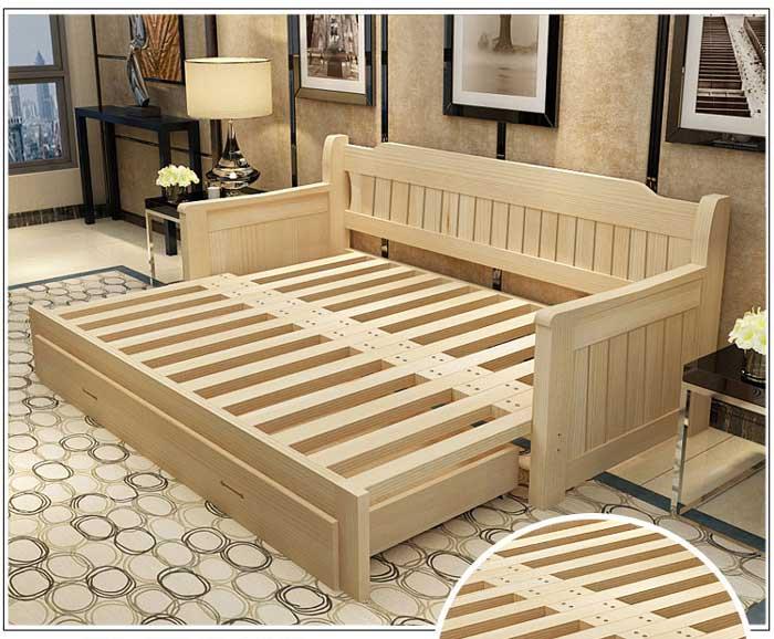 bề mặt giường kết hợp ghế sofa