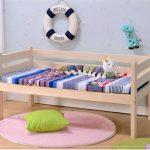 Giường đơn cho trẻ em đa năng bằng gỗ thông