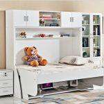 Giường gấp thành bàn làm việc, bàn học đa năng GDN1042