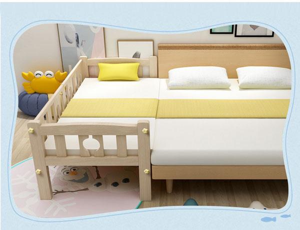 giường gấp có lan can cố định bảo vệ