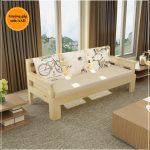 Giường gấp kết hợp sofa 1m2 x 2m gỗ đẹp