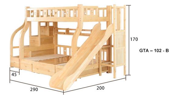 giường tầng có cầu trượt