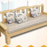 Giường gấp thành ghế sofa bằng gỗ có ngăn kéo GA110 (2019)