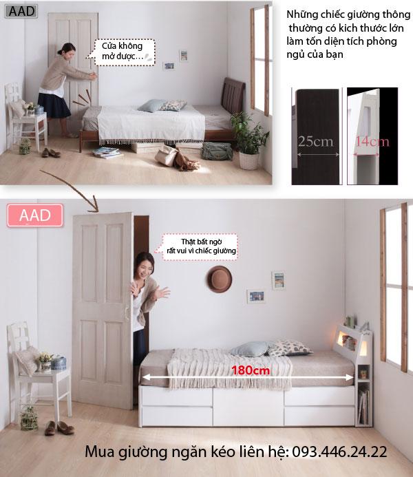 Giường ngủ ngăn kéo tiết kiệm diện tích GN-2217