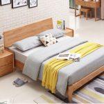 Giường thông minh sang trọng bằng gỗ sồi