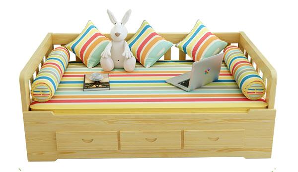 Giường sofa bằng gỗ đa năng có ngăn kéo GA110