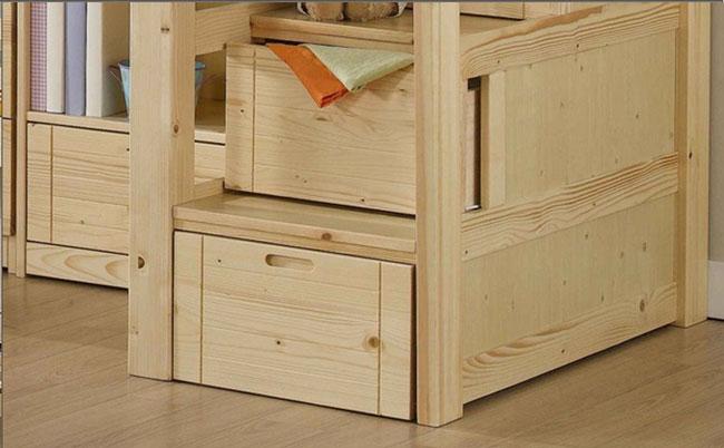 hộp ngăn kéo giường tầng kết hợp bàn học đa năng cho trẻ em