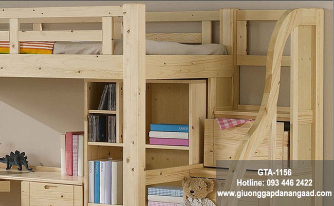 Giường tầng kết hợp bàn học đa năng cho trẻ em