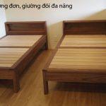 Giường đơn, giường đôi đa năng gỗ đẹp