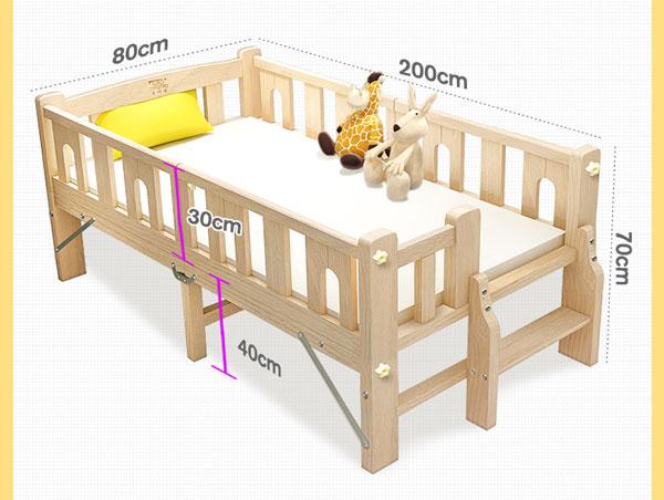 kích thước giường gấp có lan can