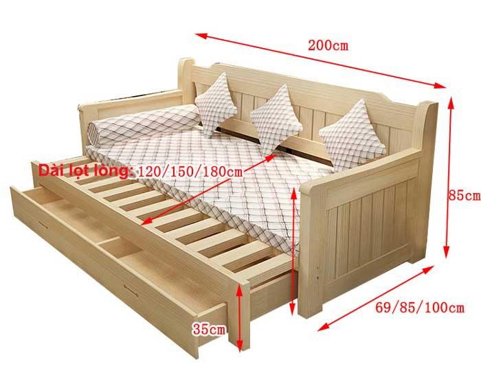 Kích thước giường sofa thông minh