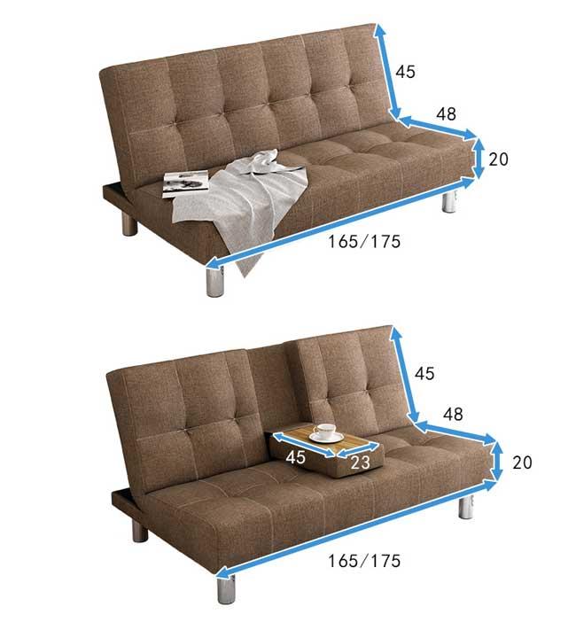 kích thước sofa gấp đôi