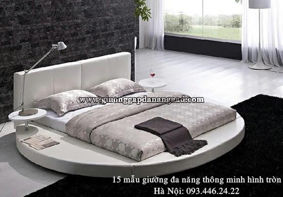 15 mẫu giường ngủ hình tròn đa năng thông minh