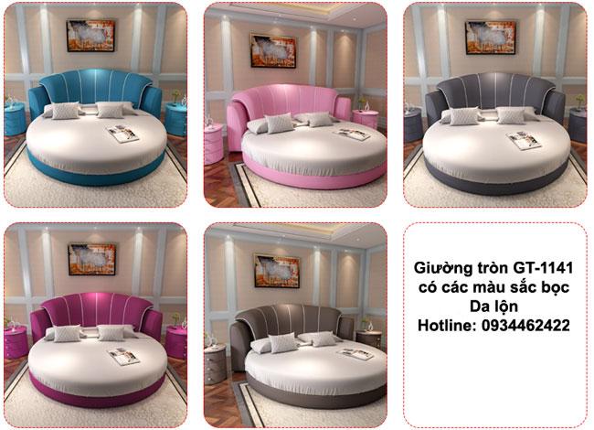 các màu giường ngủ hình tròn GT-1141