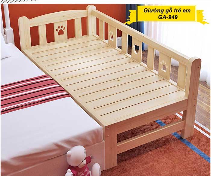 Giường gỗ cho trẻ em rộng 1m2, 1m6, 1,8m