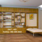 Giường gấp dọc GAT-423 kết hợp kệ sách hiện đại
