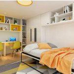 Giường gấp ngang GA-1055 kết hợp sofa (có đệm)