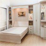 Giường gấp âm tường kèm tủ kệ trang trí 1,2m x 2m