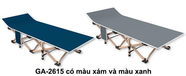 giường gấp GA2615 có màu xám và màu xanh