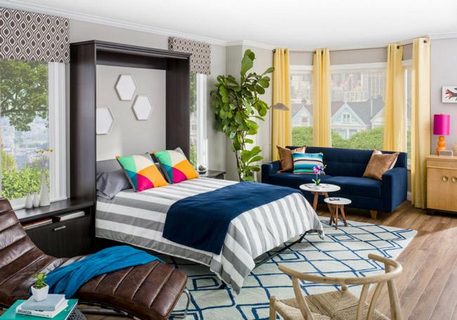Giường kết hợp bàn làm việcở phòng khách