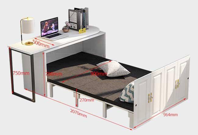 kích thước giường gấp đa năng kết hợp bàn