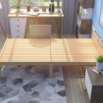 Giường gấp đôi đa năng nhỏ gọn bằng gỗ GA 2018